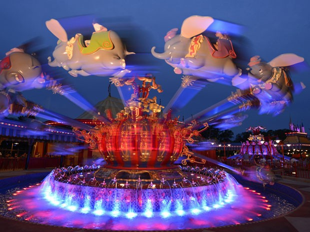Brinquedo do Dumbo, nova atração do Magic Kingdom, na Disney (Foto: Divulgação/Disney)