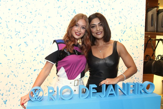 Juliana Paes e Marina Ruy Barbosa prestigiam evento beneficente da Louis Vuitton (Foto: Thyago Andrade -Brazilnews)
