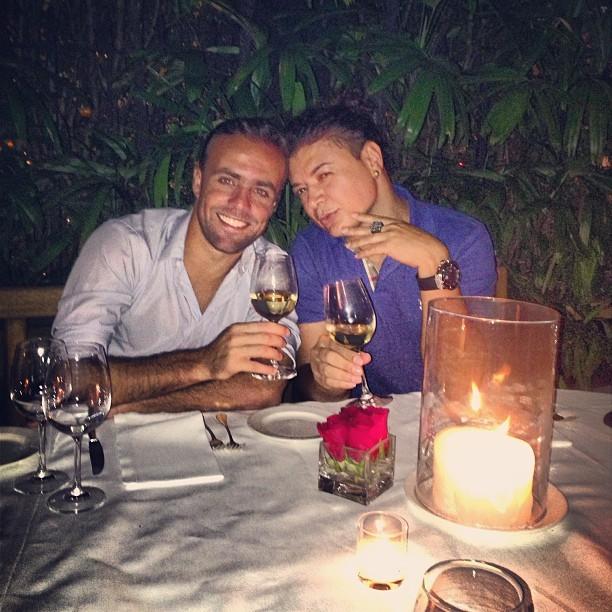David Brazil posta foto com Roger Flores (Foto: Reprodução / Instagram)