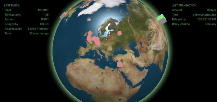 Veja as transações de Bitcoin no mundo todo ao vivo (Foto: Reprodução/Barbara Mannara)