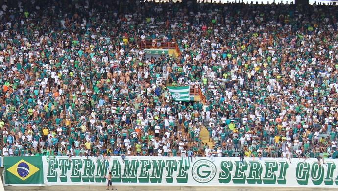 Torcida - Goiás (Foto: Fernando Vasconcelos / Globoesporte.com)