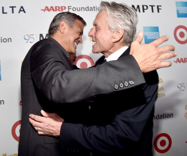 George Clooney e Michael Douglas (Foto: Getty Images)