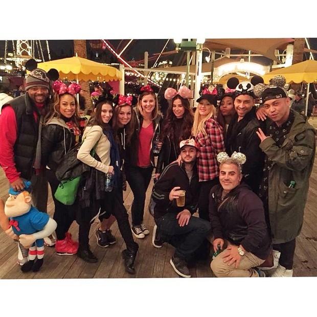 Christina Aguilera na Disney (Foto: Reprodução do Instagram)