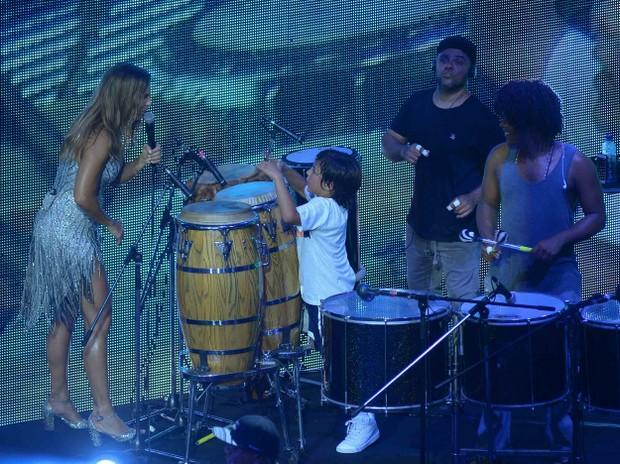 Ivete Sangalo com o filho, Marcelo (Foto: Francisco Cepeda/AgNews)