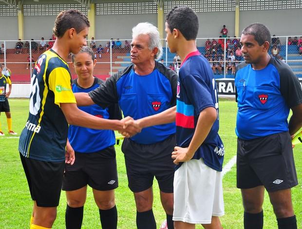 Copa Paraíba sub-15; jogo de abertura Kashima x Santos do José Américo (Foto: Kleide Teixeira/Secom-PB)