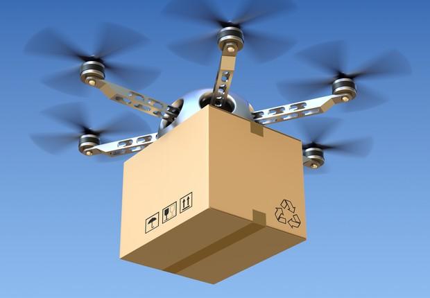 Drones estão sendo testados para a entrega de objetos (Foto: Thinkstock)