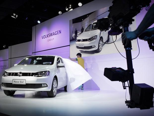 Gol esportivo é apresentado pela Volkswagen (Foto: Caio Kenji/G1)