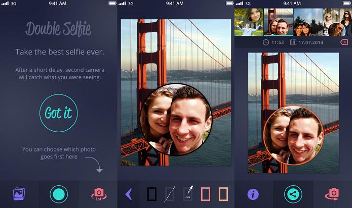 Faça selfie e registre o local com o Double Selfie (Foto: Divulgação/AppStore)