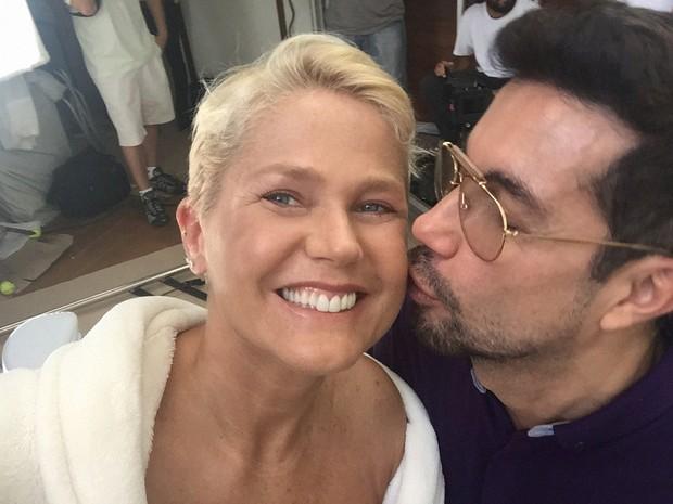 Xuxa e Fernando Torquatto na gravao do 'Superbonita' (Foto: GNT/Divulgao)
