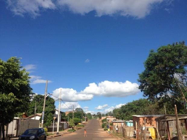 Céu de Campo Grande na tarde desta sexta-feira (5) (Foto: Glaucea Vaccari/ G1MS)