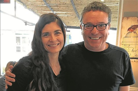 Soledad Villamil e Paulo Nascimento (Foto: Arquivo pessoal)