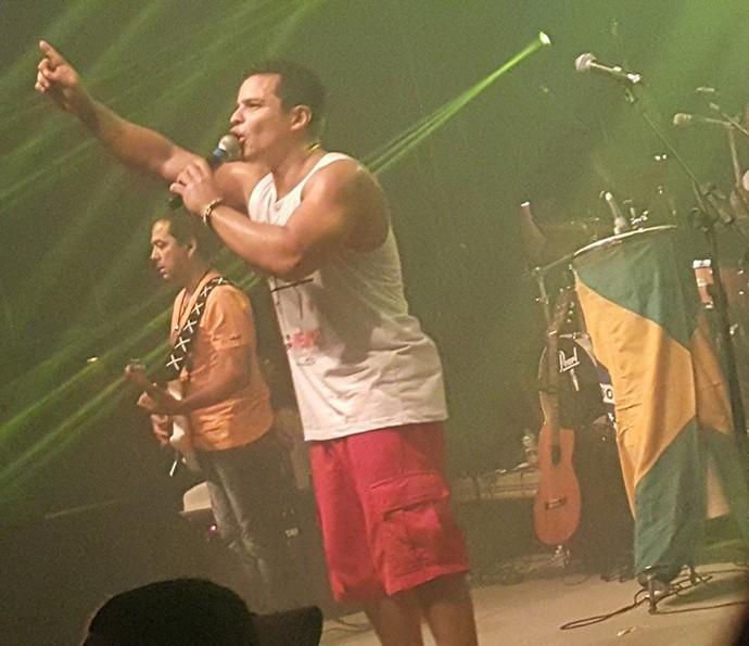 O grupo Negra Cor durante show (Foto: Arquivo pessoal)