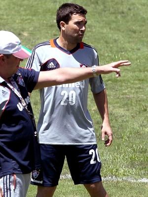 Abel Braga e Deco no treino do Fluminense (Foto: Cezar Loureiro / Agência O Globo)
