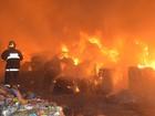 Bombeiros registram incêndio em depósito de recicláveis em Leopoldina