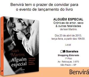 Convite lançamento livro Ivan (Foto: Divulgação)