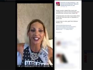 Valesca gravou vídeo em apoio ao evento. (Foto: Reprodução/ Facebook)