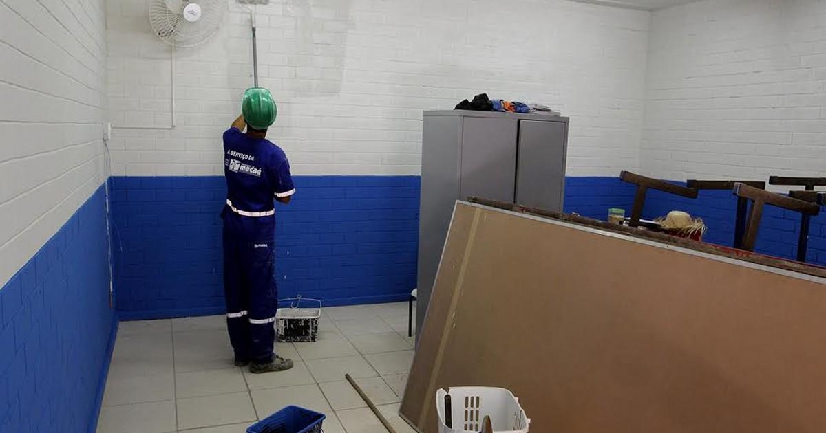 Escolas da rede municipal passam por reformas em Macaé, no RJ - Globo.com