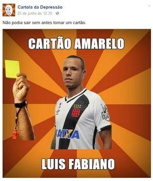 Meme Luis Fabiano Cartola (Foto: Reprodução)