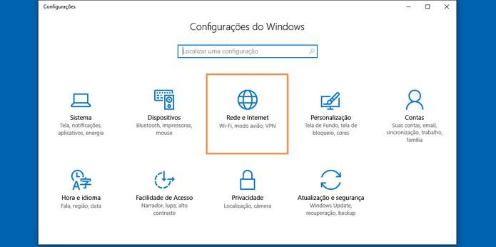 Abra o recurso de rede e internet no notebook com Windows 10 (Foto: Reprodução/Barbara Mannara)