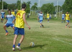 Marília, primeiro treino com bola (Foto: Divulgação / Marília AC)