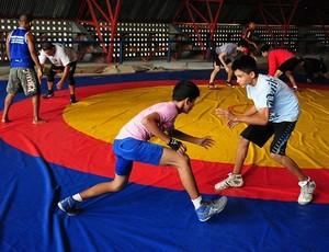 Luta olímpica Amazonas (Foto: Michael Dantas/Sejel)