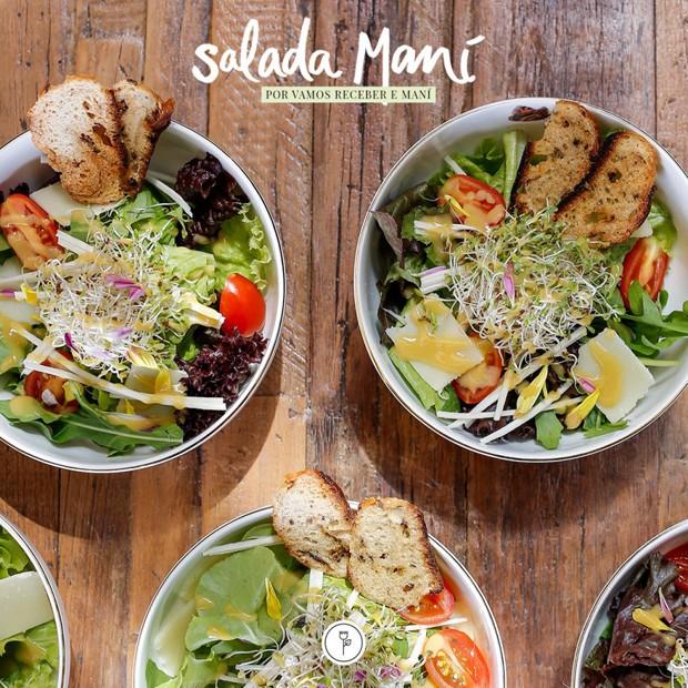 Receita: salada do Maní com molho vinagreta (Foto: Julio Acevedo)