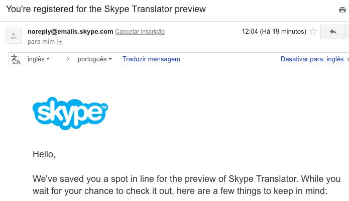 E-mail de confirmação é enviado ao usuário (Foto: Reprodução/Helito Bijora)