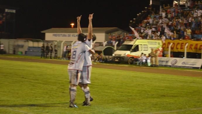 Cabixi, do Vilhena comemorando gol (Foto: Lauane Sena)