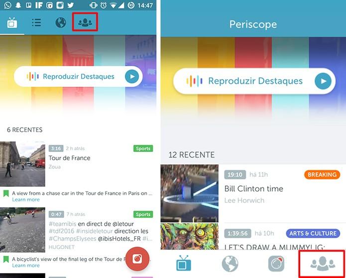 Periscope para Android e iOS tem guia para encontrar pessoas (Foto: Reprodução/Elson de Souza)
