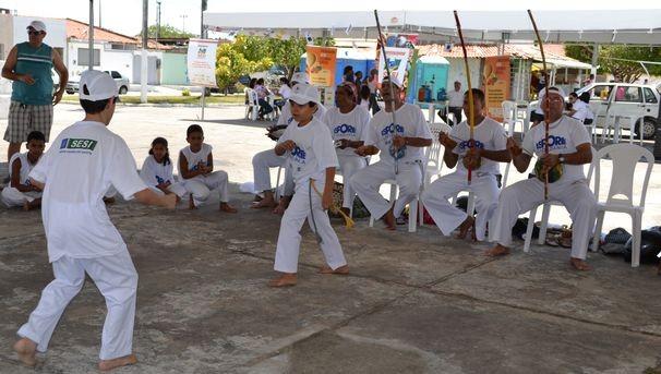 Projeto incentiva a prática de esportes  (Foto: TV Sergipe/ Divulgação)