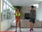 De microshort, Mayra Cardi ensina em vídeo 'exercícios para secar'