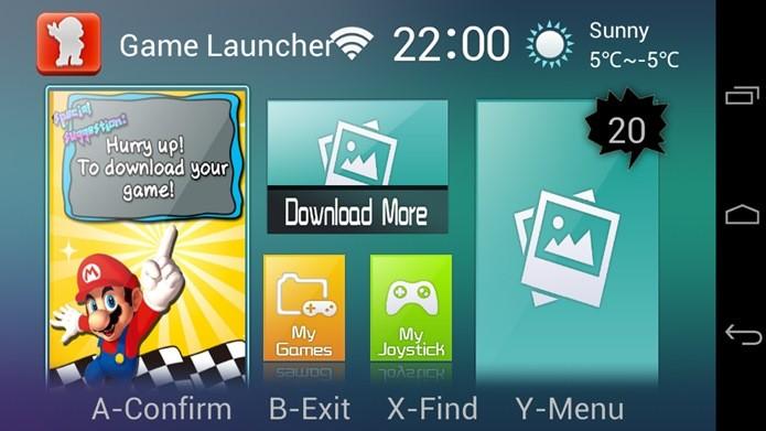 Abra o aplicativo e toque no botão verde com um joystick (Foto: Reprodução / Dario Coutinho)