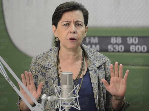 A ministra do Desenvolvimento Social e Combate à Fome, Tereza Campello, durante a entrevista (Foto: Elza Fiúza / Agência Brasil)