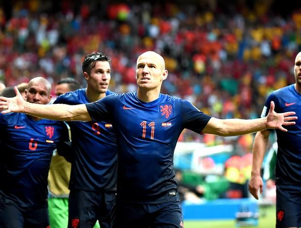Robben jogo Espanha x Holanda (Foto: AFP)