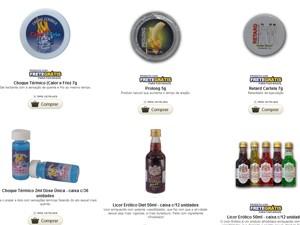 Catálogo mostra produtos no site da empresa Nipoon Hood, uma das afetadas pela resolução. (Foto: Reprodução)