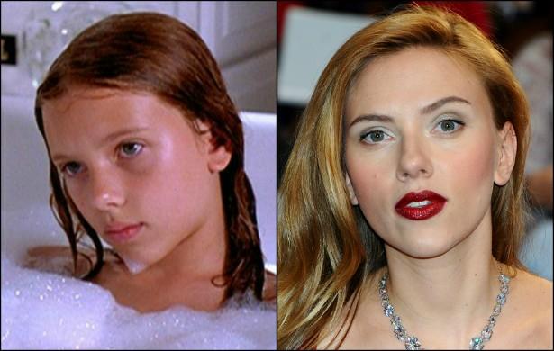 O que dizer de Scarlett Johansson? Ela foi de atriz-mirim a mulher mais sexy do planeta. A protagonista de 'Lucy' vai chegar aos 30 anos de idade no mês que vem. (Foto: Reprodução e Getty Images)