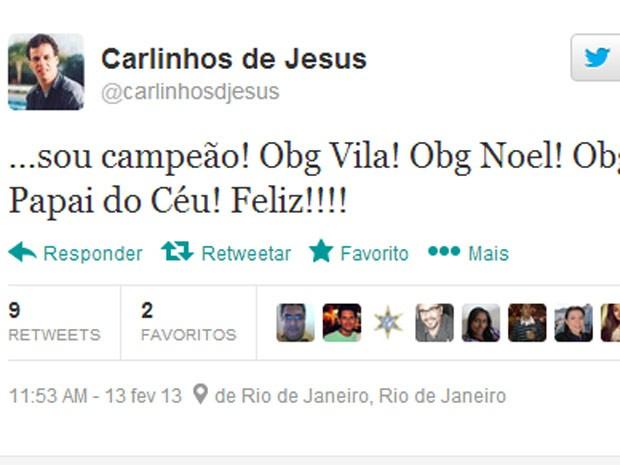 xRLINHOS DE JESUS (Foto: Reprodução/Twitter)
