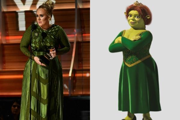 Adele e Fiona (Foto: Getty Images/Reprodução )