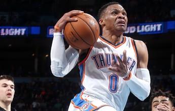 Westbrook faz o 28º triplo-duplo na temporada, e OKC bate os Lakers