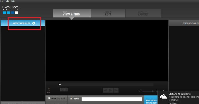 Criando vídeos o Studio, editor da GoPro para computadores (Reprodução/Luana Marfim)