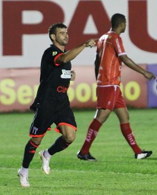 Diogo Campos, atacante do Botafogo-SP (Foto: Rogério Moroti/Ag. Botafogo)