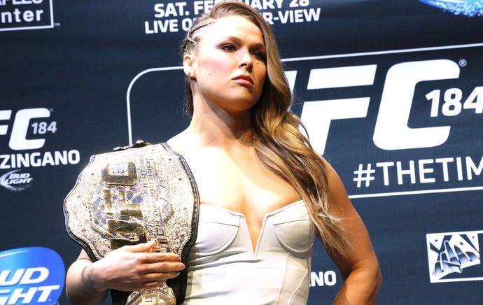Ronda Rousey, Media Day UFC 184 (Foto: Evelyn Rodrigues)