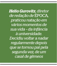 Helio Gurovitz, diretor de redação de ÉPOCA, praticou natação em vários momentos de sua vida – da infância à universidade. Decidiu voltar a nadar regularmente depois que se tornou pai pela segunda vez, de um casal de gêmeos  (Foto: reprodução/Revista ÉPOCA)