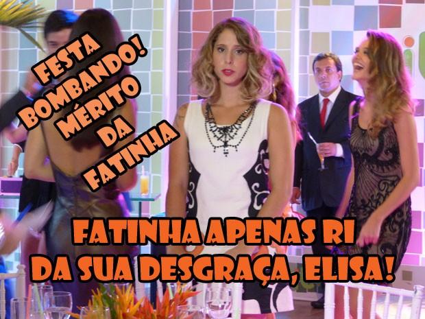 KKKKKKKKKKK Bem feito pra Elisa! Fatinha sambou na cara dessa nojentinha! (Foto: Malhação / Tv Globo)
