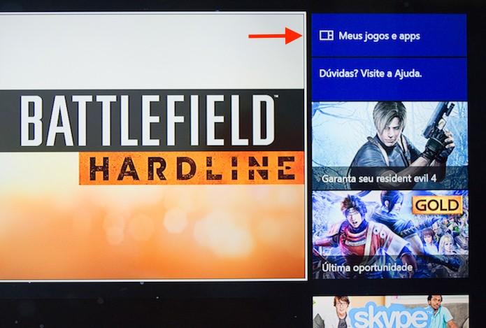 Acessando a página de jogos instalados no Xbox One (Foto: Reprodução/Marvin Costa)