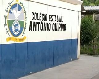 Os alunos do Colégio Estadual Antônio Quirino deram exemplo   (Foto: Reprodução RJTV 1ª Edição)