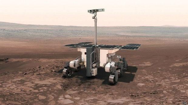 O veículo robótico viajará para Marte em 2018  (Foto: ESA/BBC)