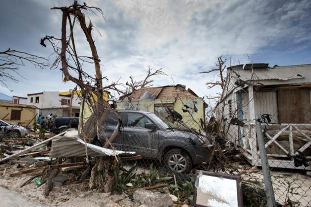 Estragos causados pela passagem do Furacão Irma na ilha de St Martin (Foto: Gerben van Es/Netherlands Ministry of Defence)