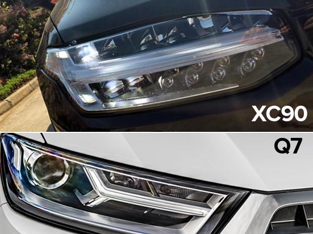 Volvo XC90 x Audi Q7 (Foto: Divulgação)