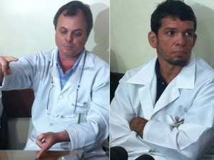 Diretor Geral do Miguel Couto aponta tamanho do vergalhão Retirado. Médico Responsável pela cirurgia diz que operário tem mastigação comprometida (Foto: Cristiane Cardoso/G1)